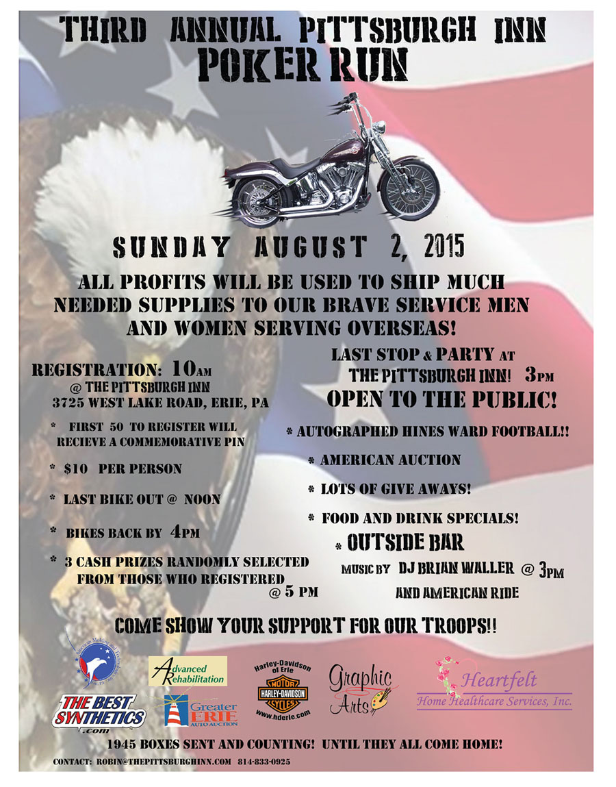 Flyer of 2015 Poker Run